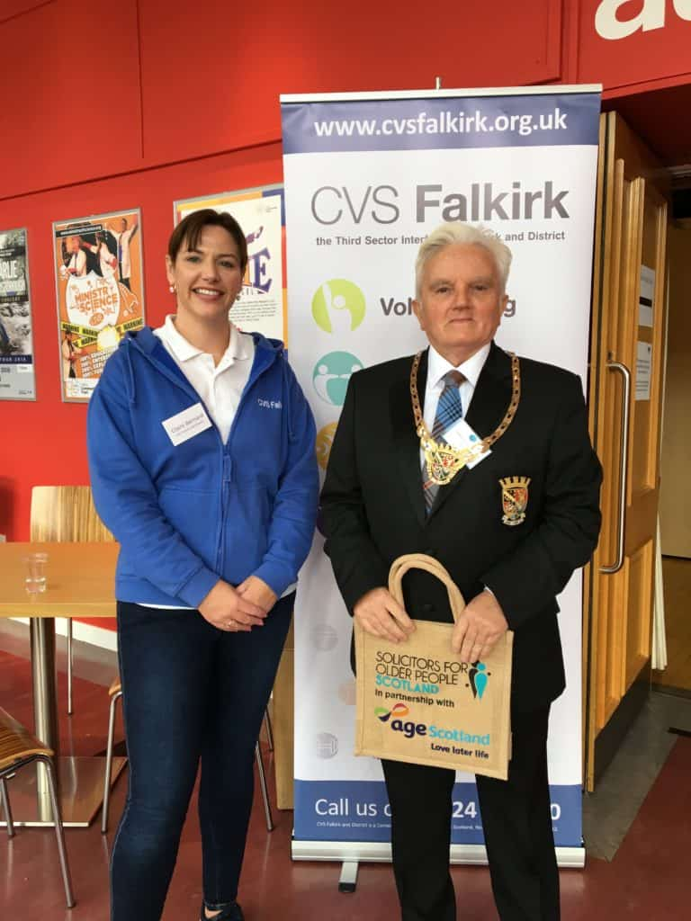 Claire and Provost William Buchanan at OPD 2018