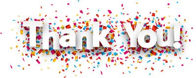 paper thank you confetti sign white over background vector holiday illustration 57529979 www.dreamstime.com