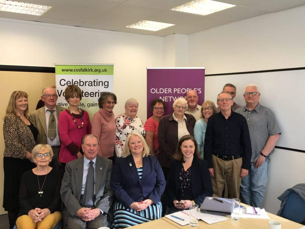 Christina McKelvie MSP and the Falkirk Older People's Network