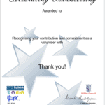 Celebrating Volunteering Certificate 2020 150x150