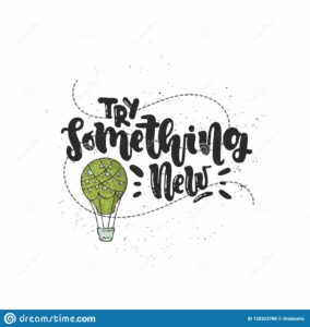 vector hand drawn illustration lettering try something new idea poster postcard try something new 128323766 284x300