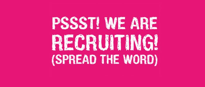 we are recruiting ww.cannellebeaute.co .uk  700x300